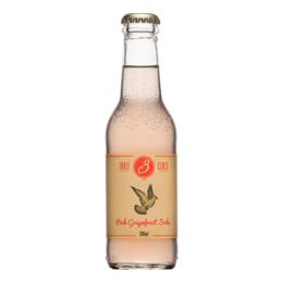 Εικόνα της Three Cents Pink Grapefruit Soda 200ml