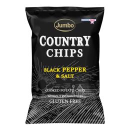 Εικόνα της Πατατάκια Jumbo Country Black Pepper & Salt 150gr