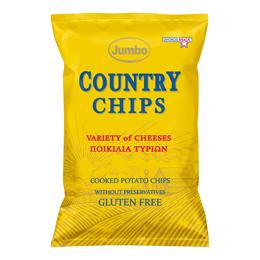Εικόνα της Πατατάκια Jumbo Country Variety of Cheeses 150gr