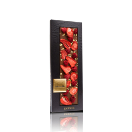 Εικόνα της Σοκολάτα ChocoMe Gold & Strawberry Raspberry 110gr