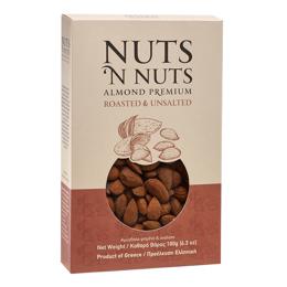 Εικόνα της Nuts N Nuts Ελληνικό Αμύγδαλο Ψημένο Ανάλατο 180gr