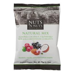 Εικόνα της Nuts n Nuts Αμύγδαλο, Κράνμπερι, Καρύδα και Μαύρη Σταφίδα 90gr